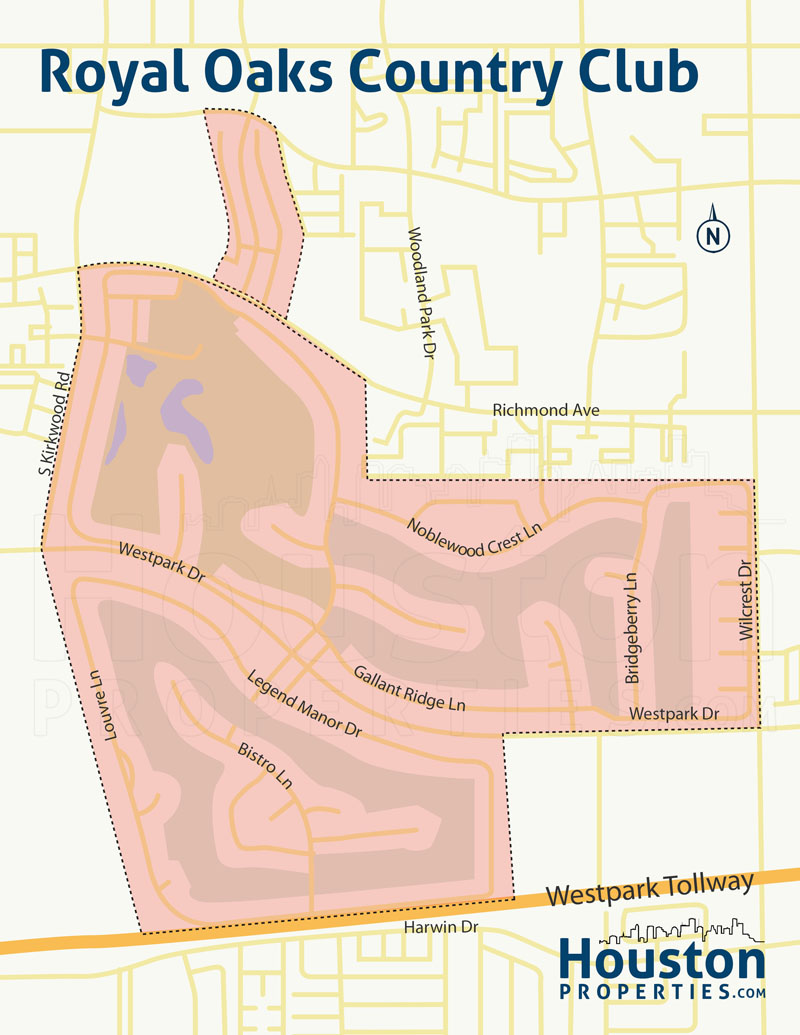 Map of Royal Oaks Country Club