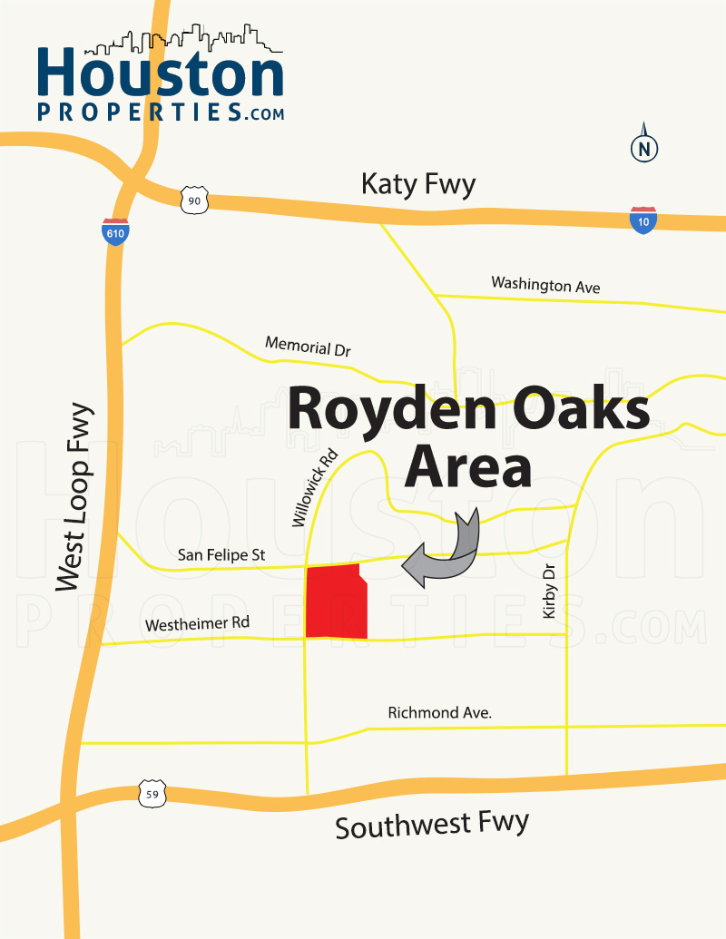 Afton Oaks / Royden Oaks Map