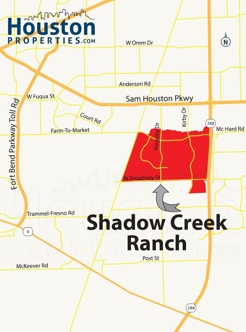 Shadow Creek Ranch Map
