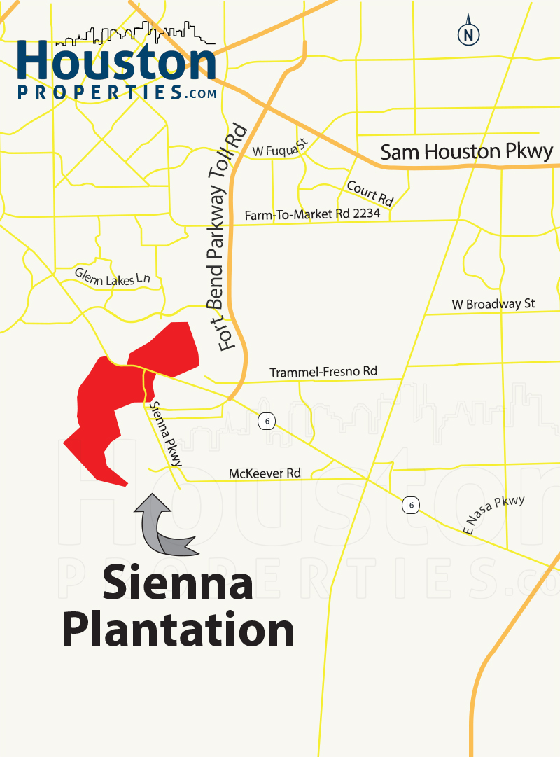 Sienna Plantation Map