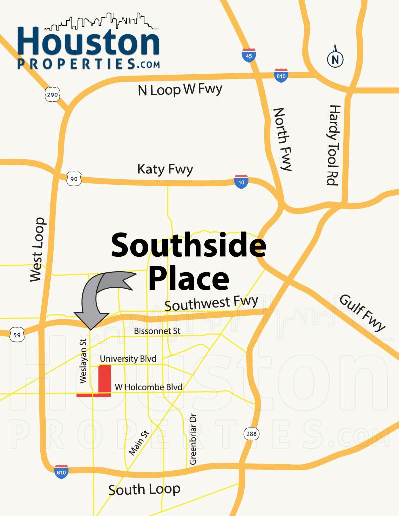 Southside Place Map
