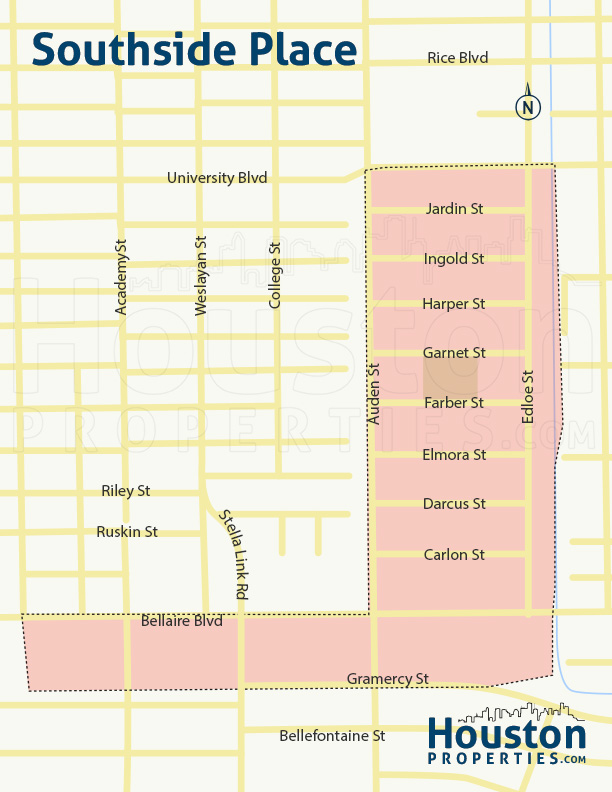 Map of Southside Place