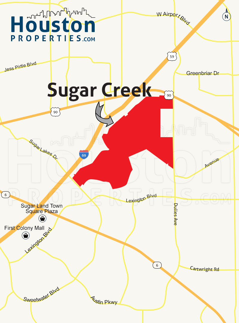 Sugar Creek Map