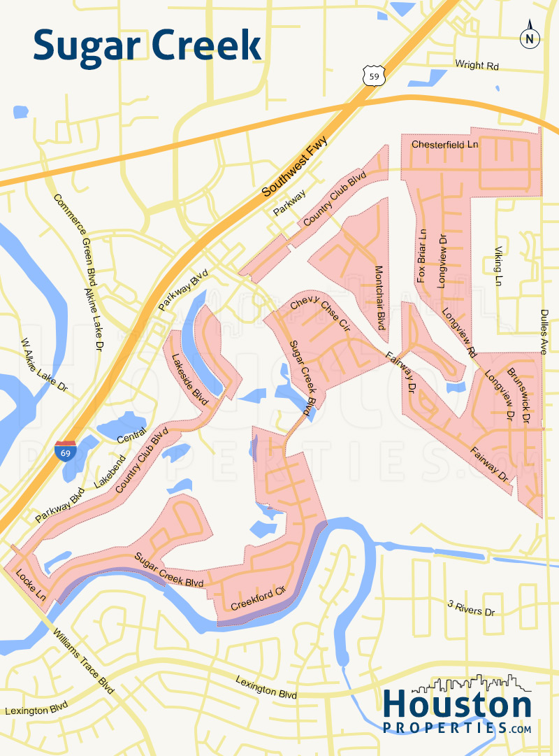Map of Sugar Creek