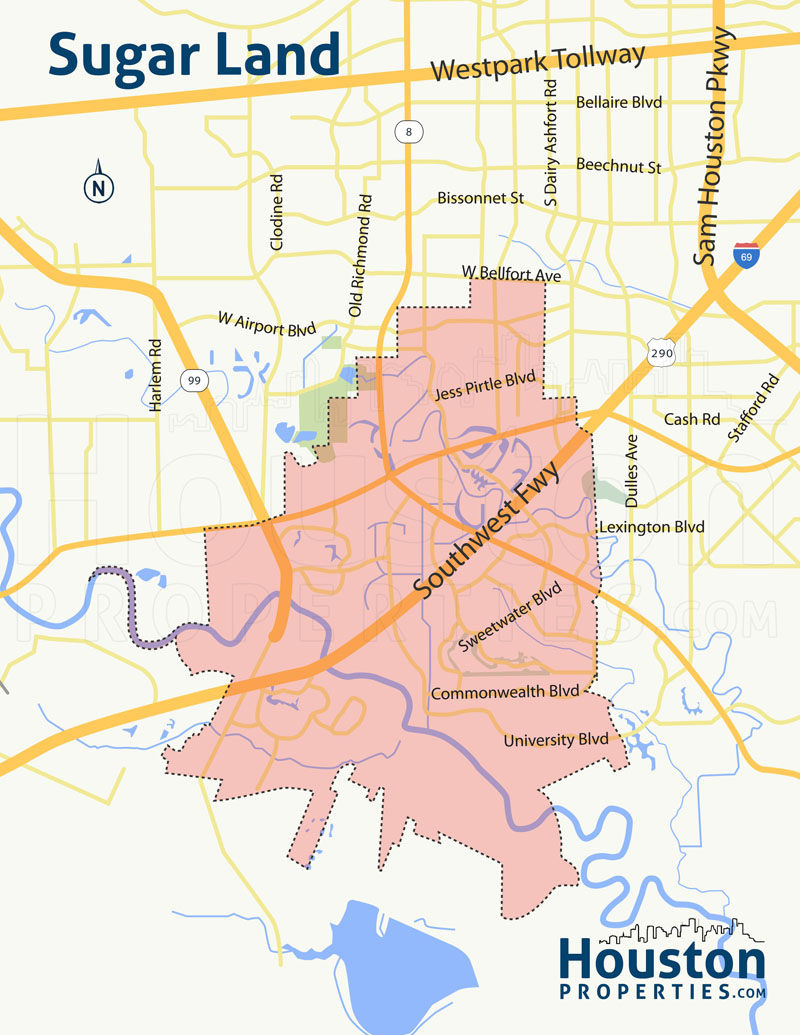 Map of Sugar Land