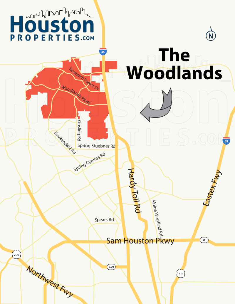 The Woodlands Map