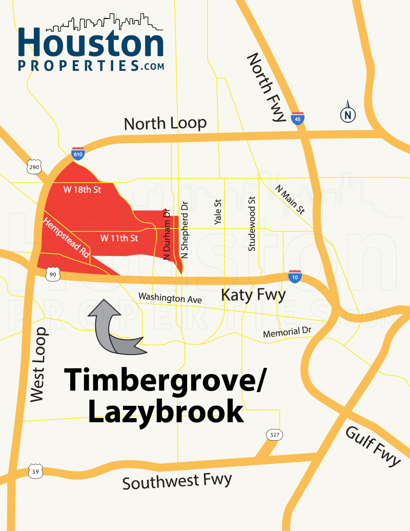 Timbergrove/Lazybrook Map