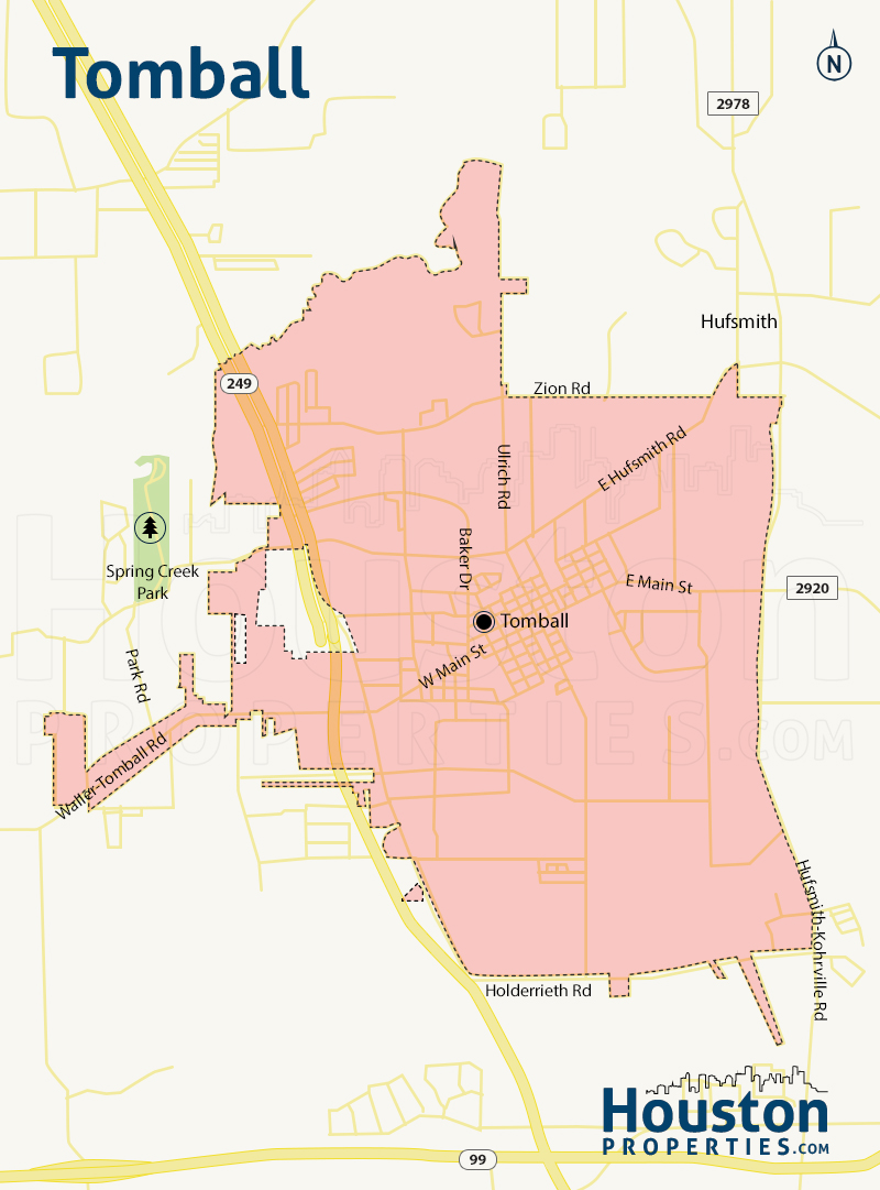 Map of Tomball