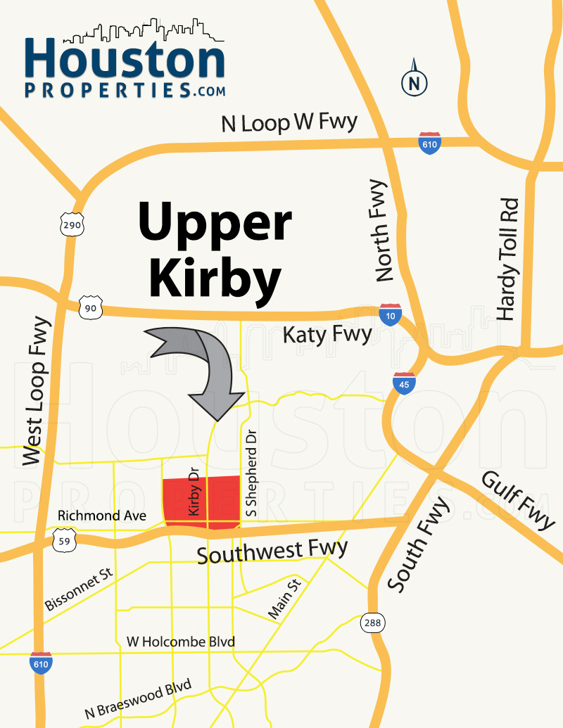 Upper Kirby Map