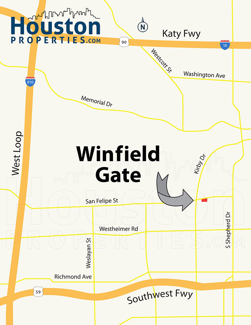 Winfield Gate Map